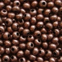 8/0 Metal Seed Beads Antique Copper - 20 grams